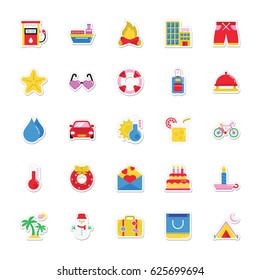 Summer and Holidays Vector Icons 9