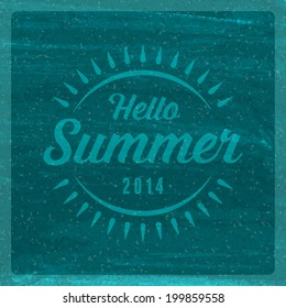 Summer holidays vector typography. Summer vacation message for your design watercolor vector poster or background.