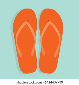 summer icon with flip flops, slippers