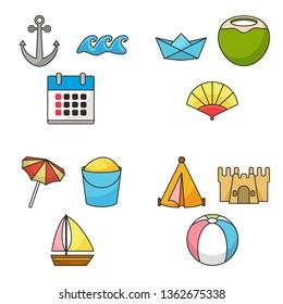 Summer Icon Set Design