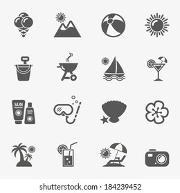 Summer icons, vector.