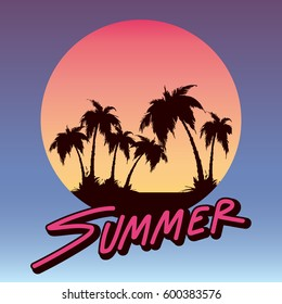 summer logo decoration