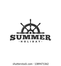 summer logo, icon and illustration