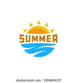 Summer logo template vector illustration