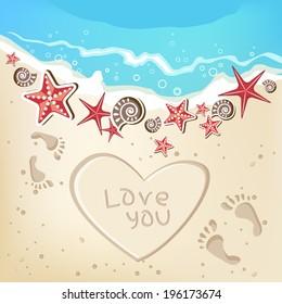 Summer love frame background