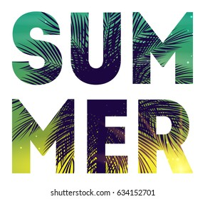 Summer Natural Placard, Poster, Flyer or Invitation Background with Frame Vector Illustration