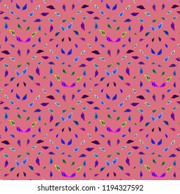 Summer new multicolored sea shell abstract seamless background.