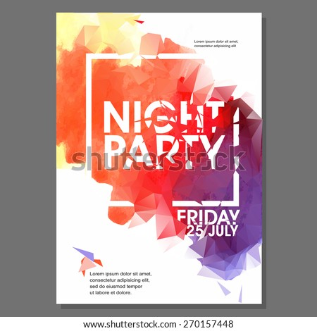 summer night beach party vector flyer stock vector royalty free