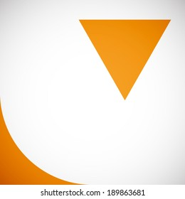 summer orange with triangle pattern background (vector)