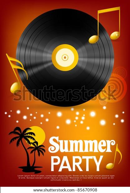 Summer party background, illustration