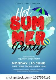 Summer Party Poster/Flyer/Banner Vector Illustration