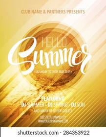Summer party. Template poster. Vector illustration EPS 10