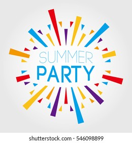 Summer Party. vector illustration. poster, banner, greeting template