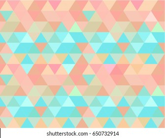 Summer pattern abstract seamless vector background, fresh and colorful illustration with beach vibes colors: light blue, aquamarine, coral, peach, sand, sea, pink, yellow.