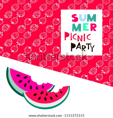 summer picnic party template poster party stock vector royalty free