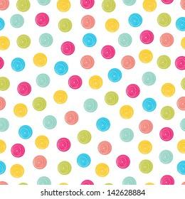 Summer polka dot pattern.