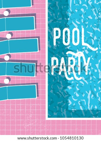 Summer Pool Party Invitation Poster Flyer Stock Vector Royalty Free