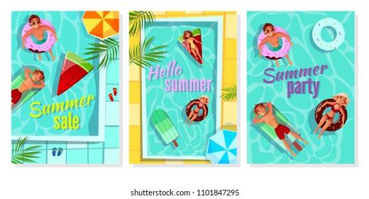 Ilustraciones Imágenes Y Vectores De Stock Sobre Girl Pool