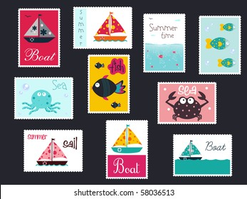 summer postage stamps