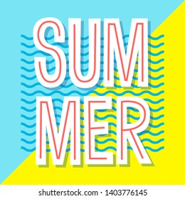 Summer poster. Vector banner design. Typographic illustration for greeting cards, invitation, prints, flyers.