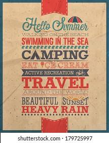 Summer poster/ Vector illustration
