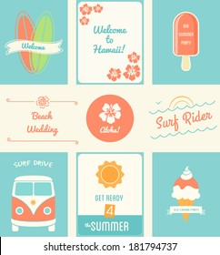 Summer Recreation Activities Posters and Design Elements