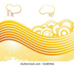 Summer retro disco banner. Vector illustration