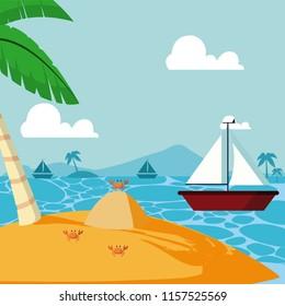 Summer and sailboat