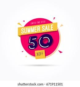 Summer Sale 50% Off Label