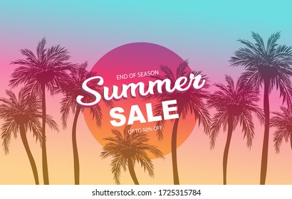 Summer sale background concept , Summer sale