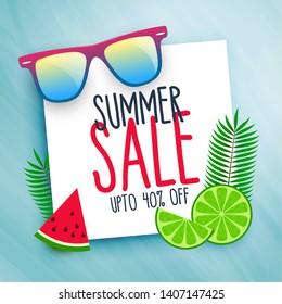 summer sale background with design elements