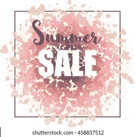 Summer sale background for print, web design and banners.
