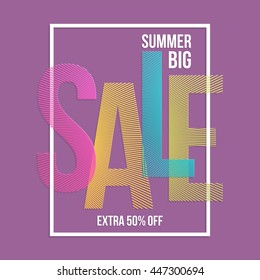 Summer sale background. Vector background for banner, poster, flyer, card, postcard, cover, brochure.