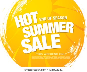 Summer sale banner. Bright template banner