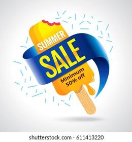 Summer Sale banner design template for promotion