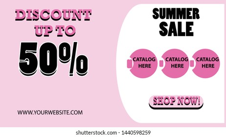 Summer Sale Banner Discount 50%