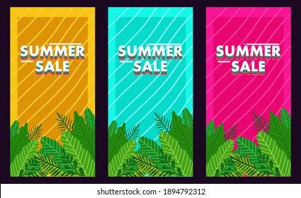Summer Sale banner illustration for your shop, website and social media.