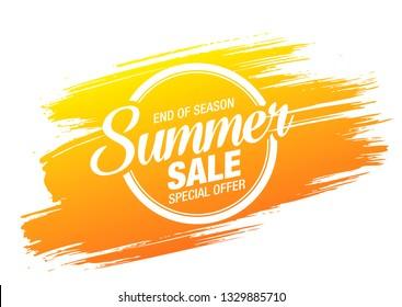 summer sale banner layout design, vector illustration