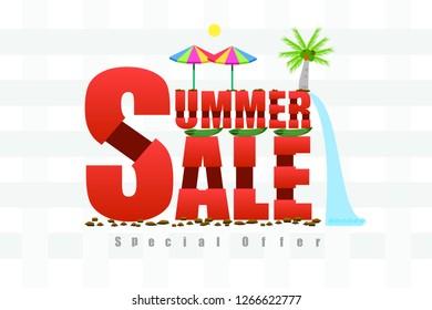 summer sale bone tone vector illustration eps10