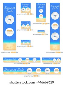 Summer Sale, Business Standard 10 Sizes Website Banners Template Big Collection