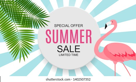Summer Sale concept Background. Vector Illustration EPS10