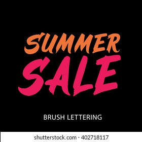Summer Sale. Hand drawn word. Brush pen lettering. Can be used for print (bags, posters, cards, stationery) and for web (banners, advertisement).