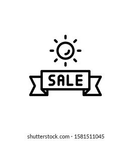 Summer Sale Icon Outline Vector. Holiday Sale Icons. Online Shop Ikon.