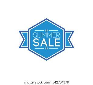 summer sale label. business promotion concept. vector element