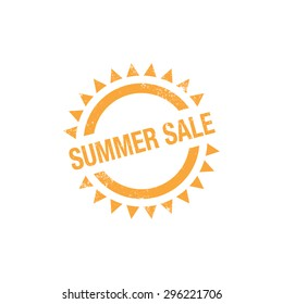 Summer Sale, rubber stamp, vector illustration