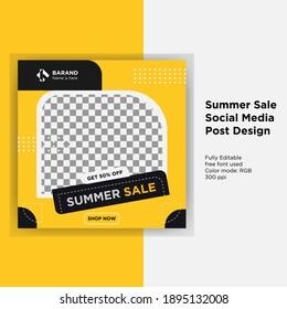 Summer Sale Social Media Ad Banner Design for All Kinds Of Business