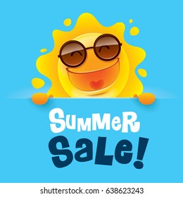 Summer Sale! Summer sun with big sign.