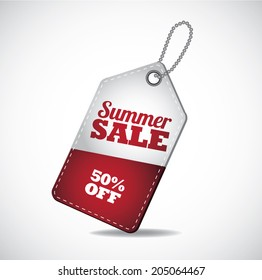 Summer sale tags. EPS 10 vector, grouped for easy editing. No open shapes or paths.
