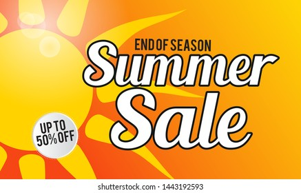 summer sale template banner.  Sale and Discounts Concept. Vector illustration. eps 10 format