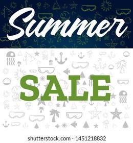 summer sale template for design. Business concept. Price tag. Vector banner, poster design. Sale offer price sign. Decoration element.